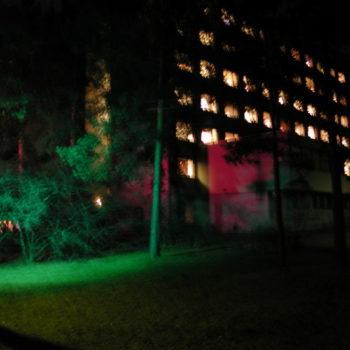 """Teoksen nimi: """"Virvatulet"""", Myllypuron sairaala 2001 Joulukuu – Tammikuu 2002"""