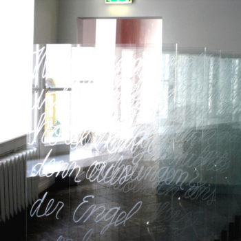 Teoksen nimi: Wer wenn Ich schriee, hörte mich / 2004/ Tartu Art Museum, Estonia