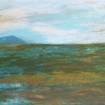 Teoksen nimi: Häivähdys maisemassa / A Trace of Landscape, 2005-2008, akryyli/acrylic, 90 x 120 cm