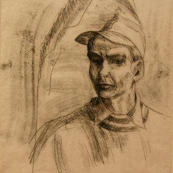 Teoksen nimi: Nuori taiteilija, omakuva, 1965