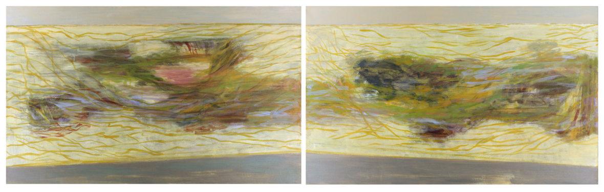 Diverso – Different – Erilaiset, 2014, acrylic, 60 x 200 cm