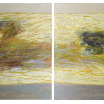 Teoksen nimi: Diverso – Different – Erilaiset, 2014, acrylic, 60 x 200 cm