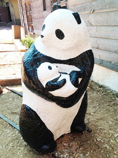 Panda mom & baby