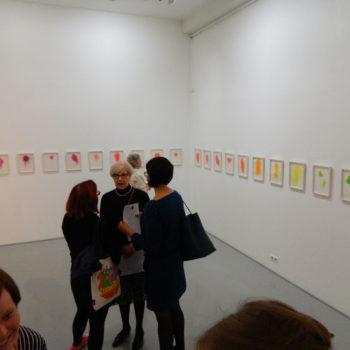 Teoksen nimi: Möököpölyä-piirustusinstallaatio ripustettuna TM Galleriassa 2012