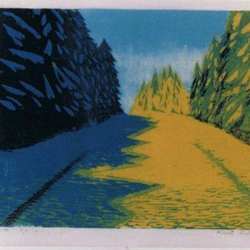 Teoksen nimi: Talvinen tie