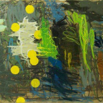 Teoksen nimi: Fool´s Gold, 2011, öljy kankaalle, 180×210