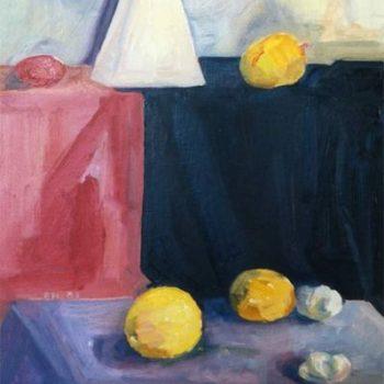 Teoksen nimi: Asetelma pyramiidin kanssa