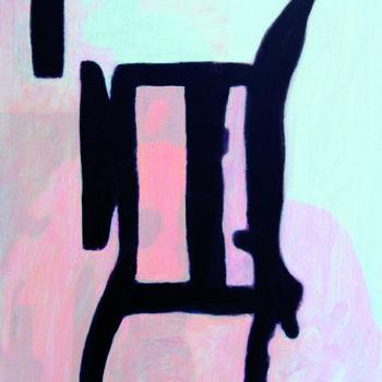Teoksen nimi: Tummaa ja vaaleaa – Dark and Light 2004 Akryyli kankaalle Acrylic on canves 85×70 Foto Dusan Jovanovic