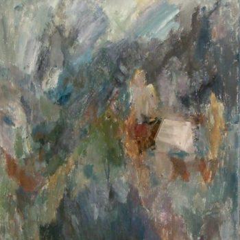 Teoksen nimi: Ei koskaan enää  v. 2001  85 x 70 cm