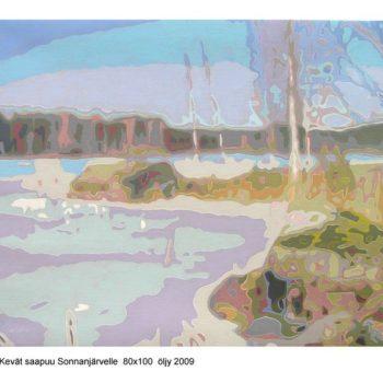 Teoksen nimi: Kevät saapuu Sonnanjärvelle II