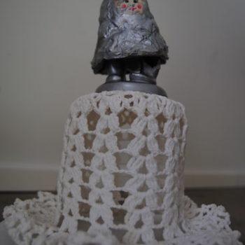 Teoksen nimi: Pikku houkka. sekatekniikka 2011