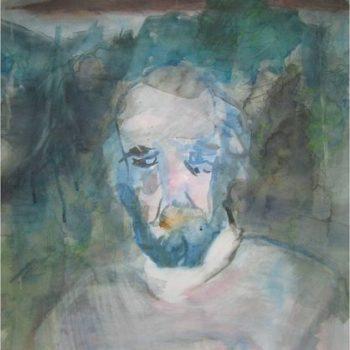 Teoksen nimi: Isäni kuten näin hänet silloin 2002 / My father as I saw him back then 2002 / akvarelli  paperille / aquarell on paper