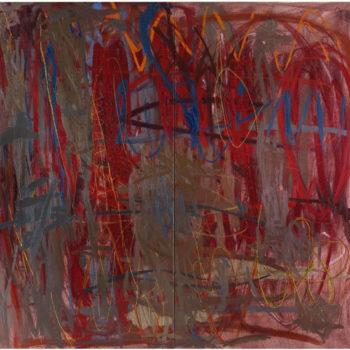 Teoksen nimi: Himmeneville muistoille, 2006, öljy kankaalle, 200×220