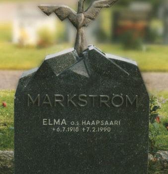 Teoksen nimi: Hautakivi, Elma Markström