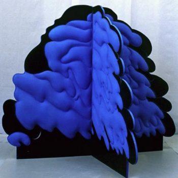 Teoksen nimi: Sininen pensas 150x150x126 cm