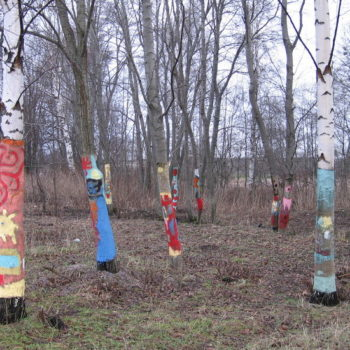 Teoksen nimi: Yhteisötaideteos Elämän puut 2007