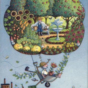 Teoksen nimi: Puutarhurin unelma