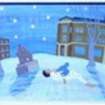 Teoksen nimi: Lumessa makaava 1992