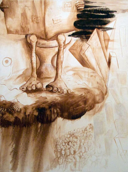 Divine Gossip, 2008, oil on canvas, 120×150 cm