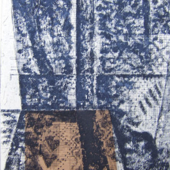 Teoksen nimi: Segni (Merkkejä/Signs), 2011, etsaus/etching, chine collé 30 x 20 cm