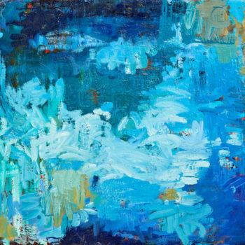 Teoksen nimi: Maalaus, 75x80cm, öljy kankaalle, 2010