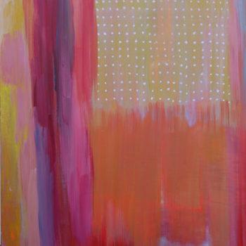 Teoksen nimi: Piste – Point – Punto, 2014, acrylic painting, 120 x 90 cm