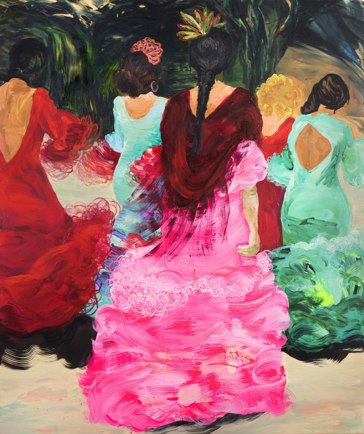 Flamencotanssijat älypuhelimien kanssa / Traditional dancers with smartphones