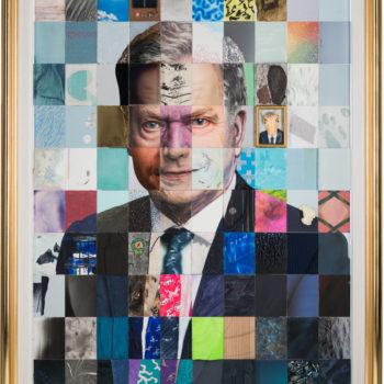 Teoksen nimi: Suomen Tasavallan presidentin Sauli Niinistön muotokuva, toteutettu yhdessä 100:n taiteilijan kanssa
