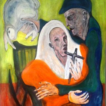 Teoksen nimi: maalaus,Pyhä perhe