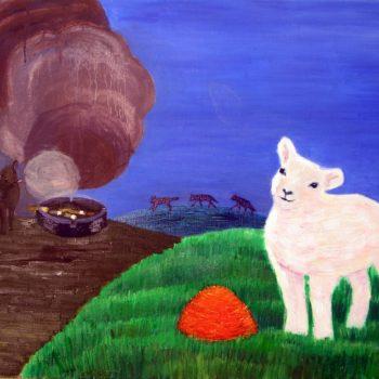 """Teoksen nimi: """" 2 lammasta """""""