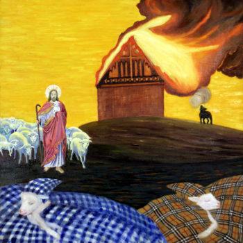 """Teoksen nimi: """" Hyvä paimen etsii kadonneita lampaita """""""