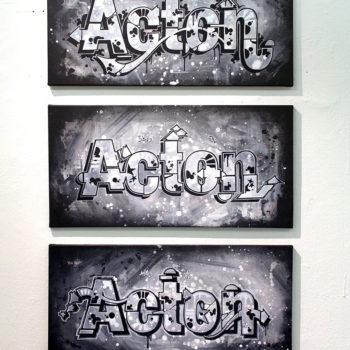 Teoksen nimi: Acton / Helvetica, metamorphosis pt. 1 – 3
