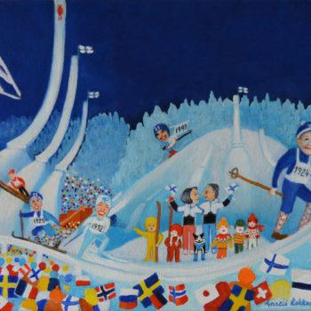 Name of the work: Hiihtämisen mallia näyttää Siiri, ja oppia saa koko Suomen hiihtopiiri.