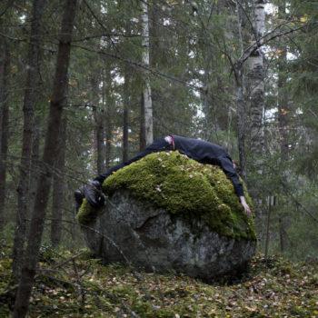 Teoksen nimi: Embracing the Stone / interventio