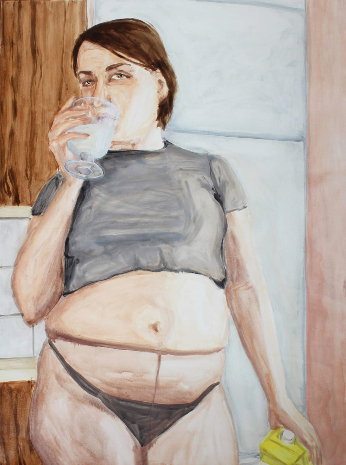 Self-portrait with a glass of (plant-based) milk