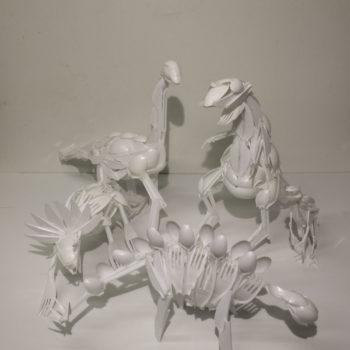Teoksen nimi: 95E (Luonnoksia Dinosauruksista)