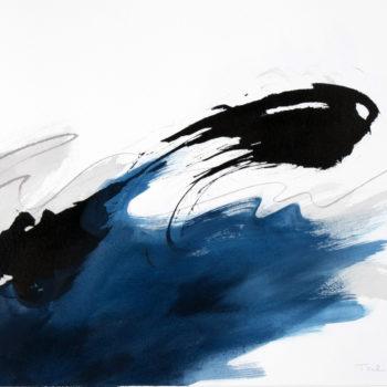 Teoksen nimi: Sininen rapsodia, osa 9 (visuaalinen sävellykseni)