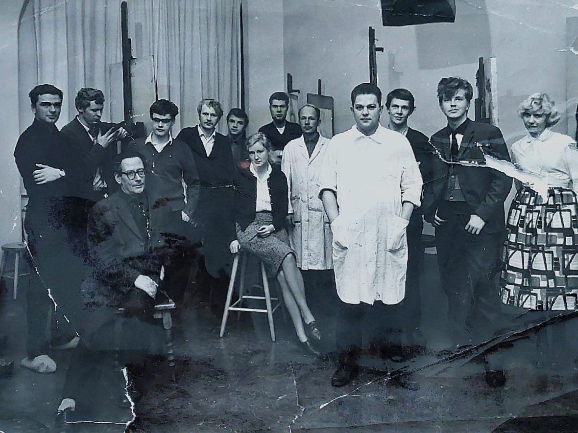 Classmates and teacher Sam Vanni, 1962. Vatka 4th from the left.