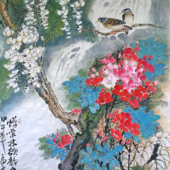 Teoksen nimi: songs of birds and scent of flowers